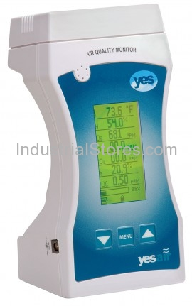 YESAIR Air Quality Monitor with USB Port & Backlit LCD