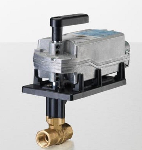 "Siemens Building Technology 172G-10312 Two-Way Ball Valve Assembly 1"" 10Cv 200 PSI Valve Body Normally Closed with Spring Return Actuator"