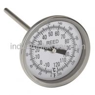 "Reed T3004-550 Thermometer Bi-Metal3"" Dial4"" Stem50/550F"