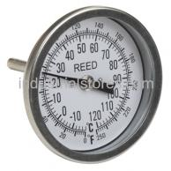 "Reed T30025-250 Thermometer Bi-Metal3"" Dial2.5"" Stem0/250F"