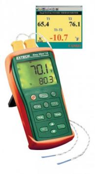 Extech EA15 EasyView Type K Dual Input Thermometer