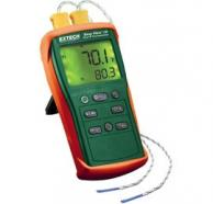 Extech NIST EasyView Type K Dual Input Thermometer with Dual Readings and NIST Traceable Calibration