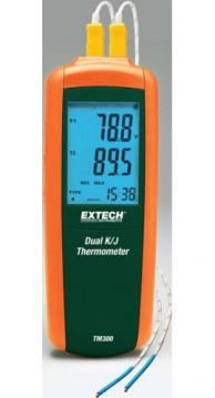 Extech TM300-NIST Type K/J Dual Input Thermometer with NIST Traceable Certificate