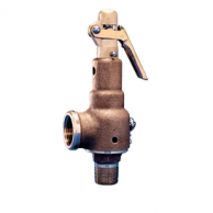 "Kunkle 6010ED-M01-K-M0275 Bronze Safety Relief Valve with Side Outlet 3/4"" 275 PSI"