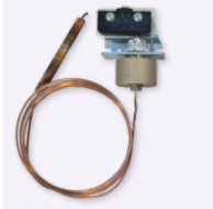 United Electric F54-D23BC/1530 Copper Bulb & Capillary Temperature Switch 150-650F with External manual reset