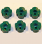 Robertshaw 4590-605 Slip-Fit Dial Knobs Green (Case of 6)